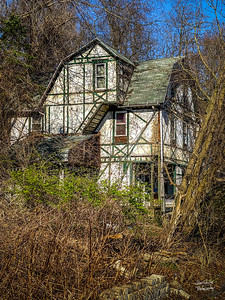 This old house is buried down Guy Street,  near the oldest  house in Squirrel Hill.