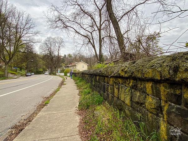 Old wall along Beechwood Boulevard