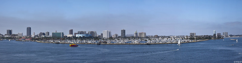 View of Downtown Long Beach. It was a beautiful day today.