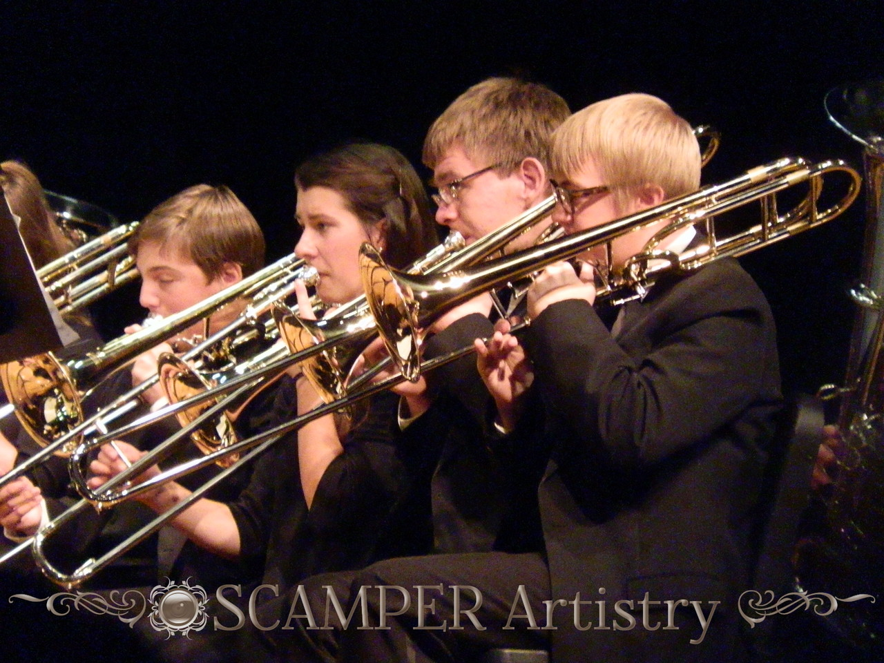 Eighth Grade Band performs with the Symphonic Winds, Nov. 10, 2015