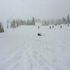 people not skiing in the crazy powder