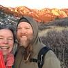 winter hiking at south mesa
