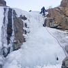 Ice climbing with the honey