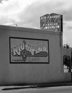 Roadside cafe. Espanola, New Mexico.