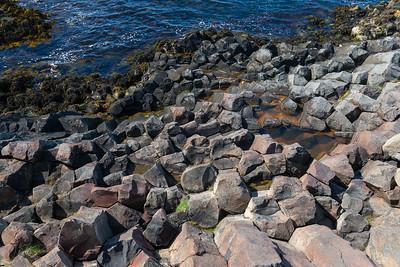 Basaltos columnares, Hófsos, Islandia