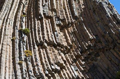 Basaltos Columnares, fundo Cruz de Piedra, Cajón del Maipo, Región Metropolitana, Chile.