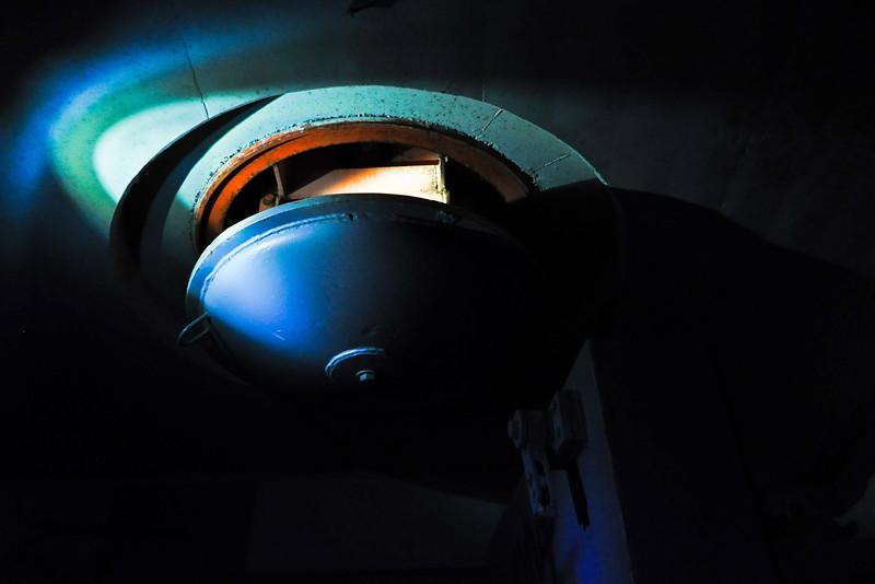 Ventilation shaft lit by LED