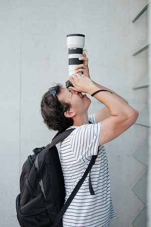 A friend taking pictures in Berlin at the German Chancellery