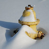 Fire hydrant in the snow.