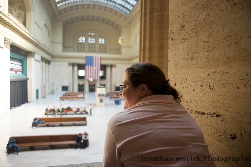 Union Station, Chicago, waiting to board the Southwest Chief to New Mexico.