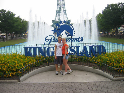 After being together for like 3 weeks, Brittany decided to go to Kings Island with Ryan Hansen and myself.