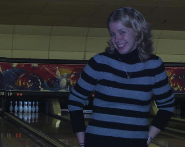 Out bowling with our friends