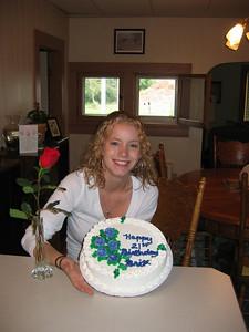Brittany's 21st Birthday cake