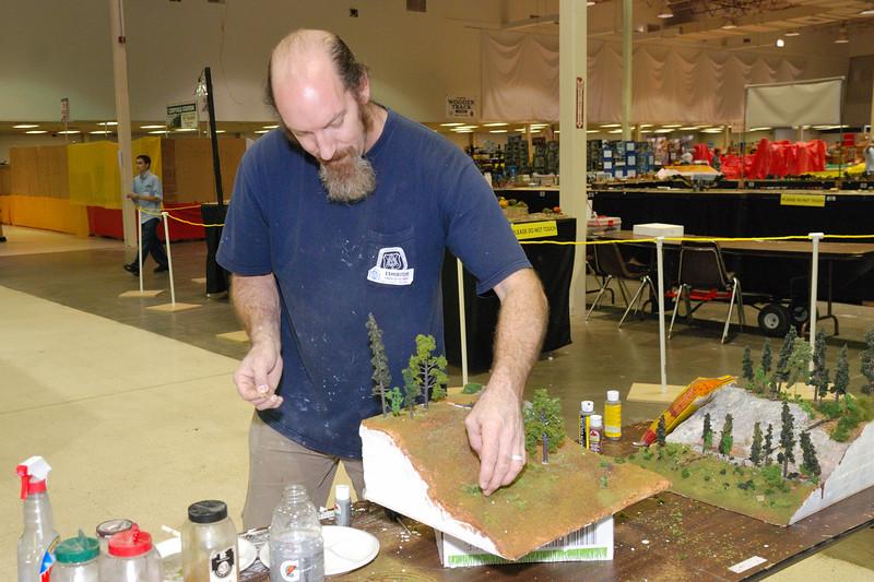Scott Kelley's scenery clinic at the Great Train Expo