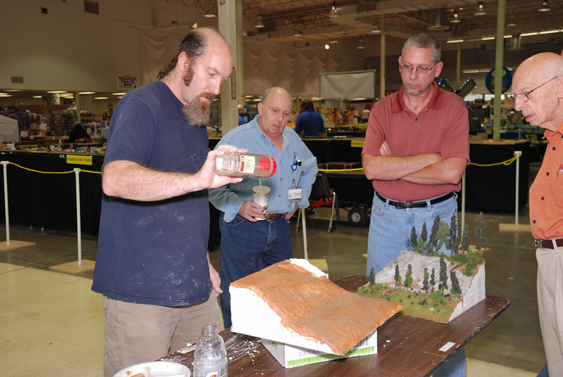 Scott Kelley's scenery clinic at the Great Train Expo