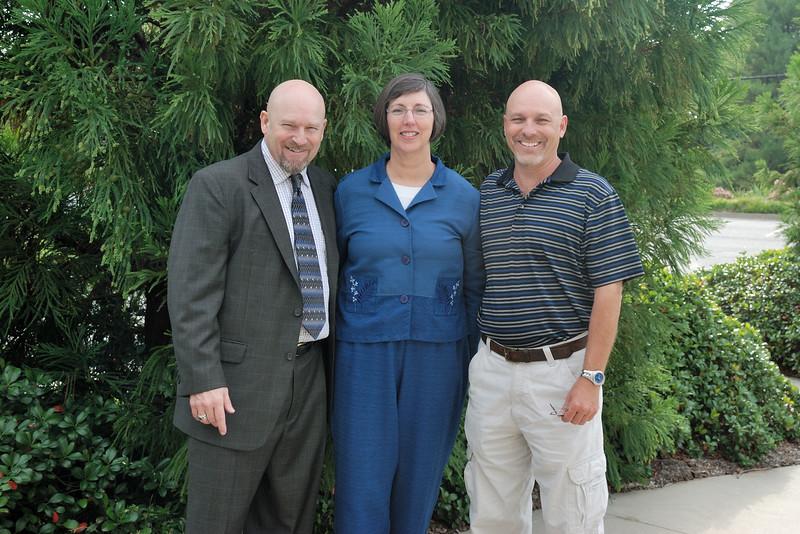 Rob, Barb and Brian at Buford Presbyterian Church