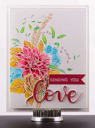 Sending You Love Valentine's card handmade by CJ Crafty Designs