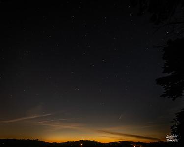 Comet NEOWISE, Hamblin Pond, Marstons Mills  7/15/20 ©John Schiller Photography