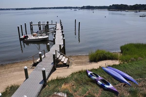 Dock and kayaks