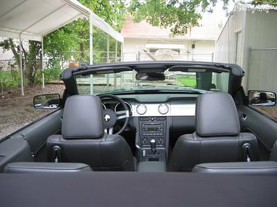 9/6/05  2006 Mustang GT Convertible  Inside look.