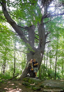 Off all the pics from the past week (yes, I'm waaayyy behind), this one is perhaps my fav. Barb and I against a 130-year-old pine near the Sanilac Petroglyphs.