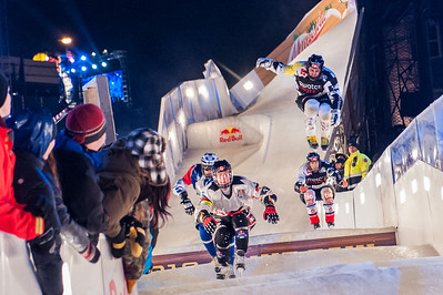 Red Bull Crashed Ice, Championship, St. Paul, MN. Jan 326, 2013. Photo by Megan Bearder.