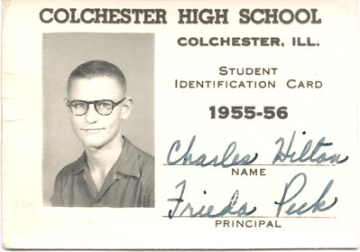 Charles Henry Hilton (1955) - high school ID card