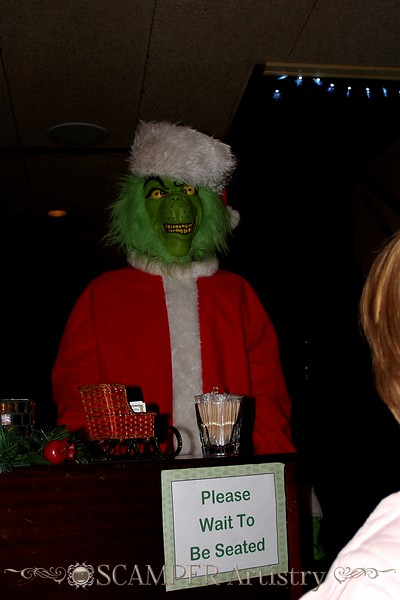 "That restaurant host was a real ""grinch""!"