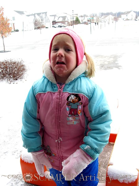 "FIona ""enjoying"" our first snow of the season, Friday, Dec. 10, 2010"