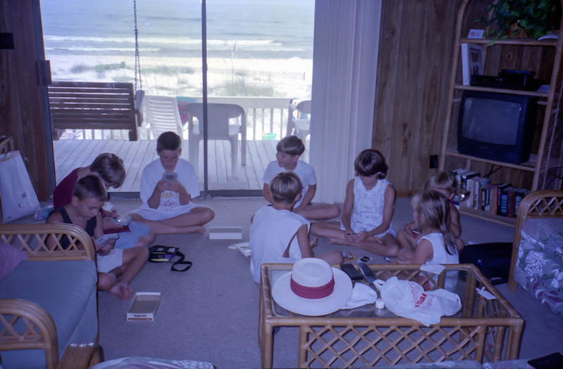 Cousins Playing Gameboys