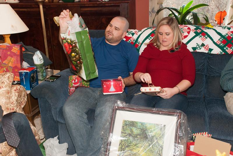 Noah and Amber at Christmas