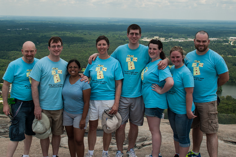 Family day with the kids at Stone Mountain