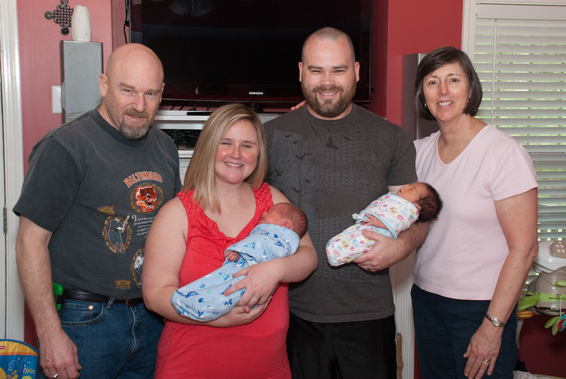 Rob, Amber, Noah and Barb with James and Lily