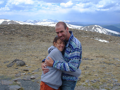 Along Trail Ridge Road. Taken by Karissa two days after our wedding in 2008 (notice ring!).