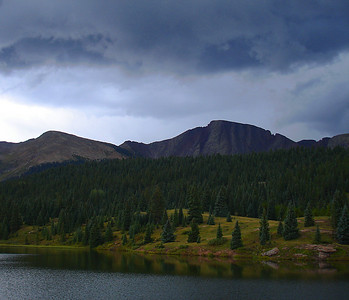 Andrews Lake and Mount Snowdon (Million Dollar Highway, CO)
