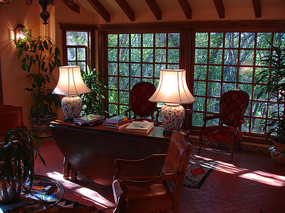 Reading room at the Blue Lake Bed and Breakfast (Durango, CO)
