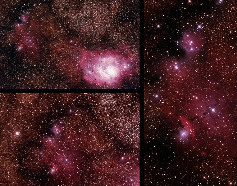 IC1274-5 Gum75 & NGC6429 Nebula with IC4685 Dark Nebula in Sagittarius (near M8 Lagoon Nebula)