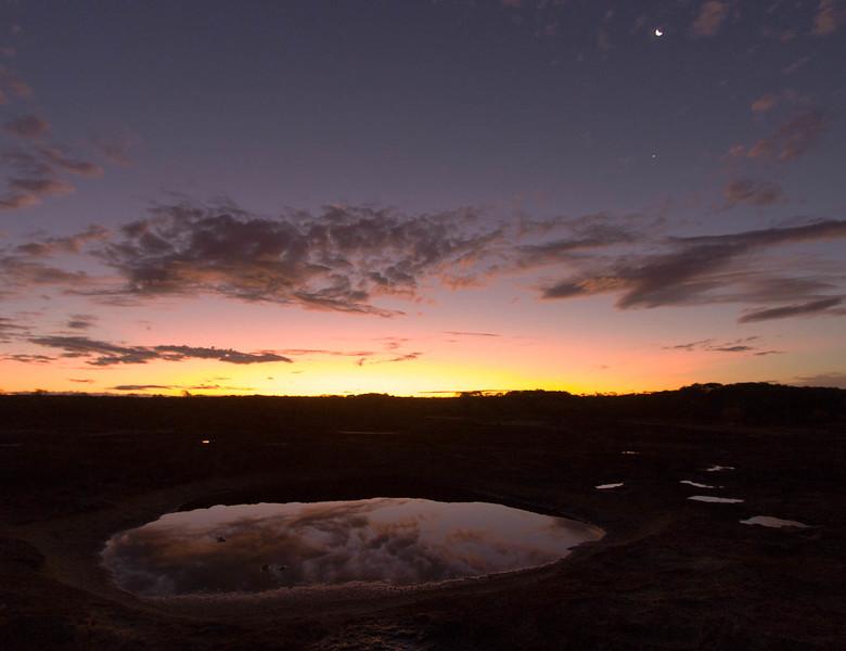 Sunset on Karalee Rocks