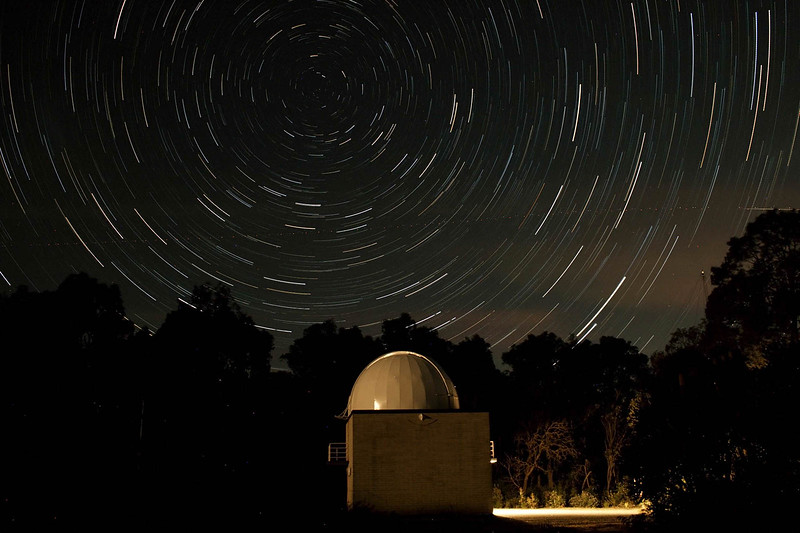 Star Trails over Perth Observatory's Astrograph Dome