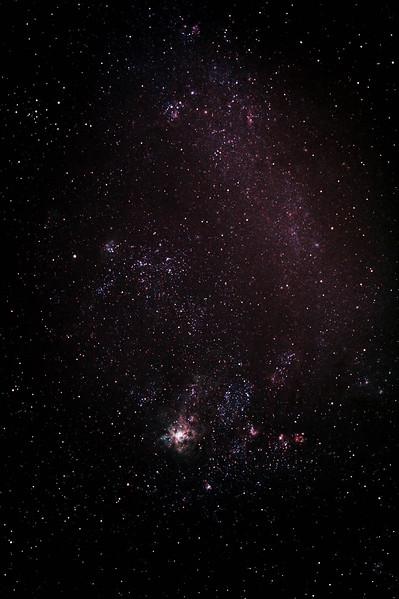 Caldwell 103 - NGC2070 - 30 Doradus - Tarantula Nebula in a wide field shot of its home The Large Magellanic Cloud