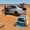 First puncture of the day, North of Meekatharra