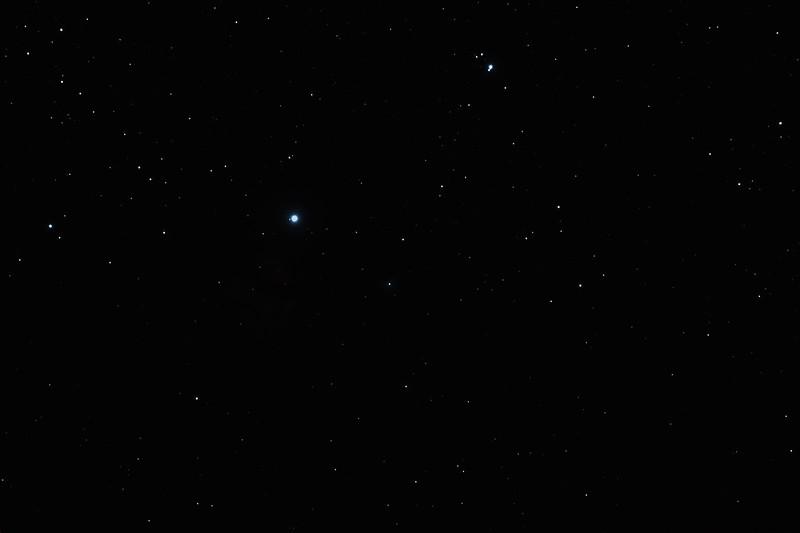 IC434 Horsehead Nebula and NGC2024 Flame Nebula near Star Alnitak