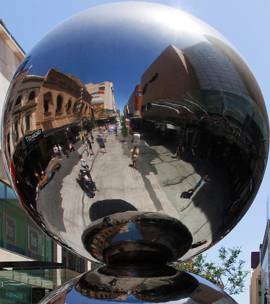 'Spheres' by Bert Flugelman - the 'Mall's Balls' in Rundle Mall