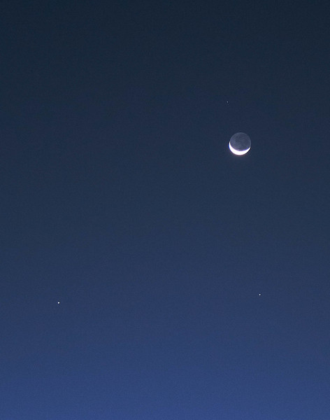 Lunar conjunction with Venus, Saturn, Mercury and Zubenelgenubi