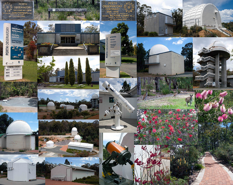 Come Visit Perth Observatory! - 3/11/2013 (Montage of several images)