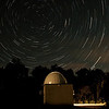 Star Trails over Perth Observatory's Astrograph Dome - 21/10/2013 (Processed stack)