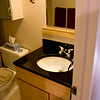 Full bath, granite countertop with Maple cabinet vanity