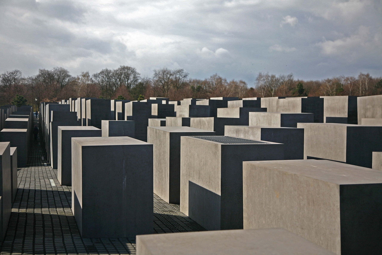 On the final day, a walking tour which led through the Holocaust memorial.