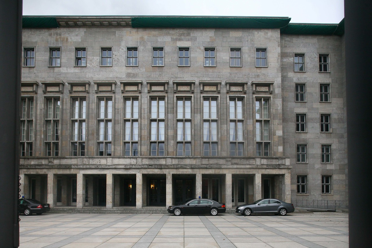 Classic nazi architecture, was the Luftwaffe headquarters ( I think) and is now appropriately the german tax bureau.