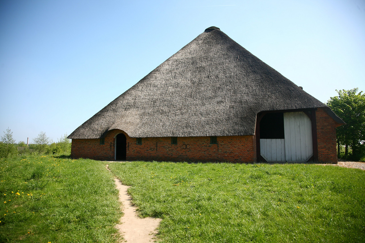 I think this was probably my favorite building- probably because it felt a lot like our barn- except with a thatched roof (thank goodness we don't have one!).